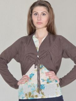 Paper Cardigan Summer Brown