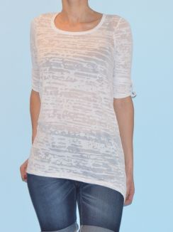 Bluza Fine Long top Optic white