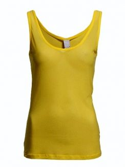 Tricou Funky tank top oil yellow