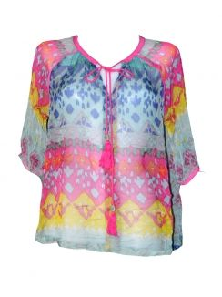 Bluza voal multicolora in degrade